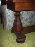 WALNUT SOFA TABLE, ONE PIECE TOP, GOOD CONDITION,