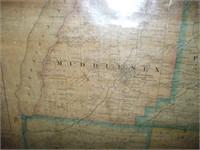 1865 YATES COUNTY MAP, STONE AND STEWART,