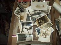 5 BOXES OF BLACK AND WHITE PHOTOS, SOME REPRODUCED
