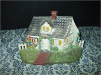 CAST IRON HOUSE DOORSTOP (STAMPED #32 ON BOTTOM)