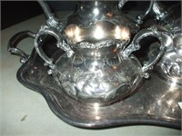 6 PIECES OF SILVERPLATED SERVING ITEMS