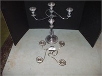 CANDELABRA  AND PART OF ANOTHER