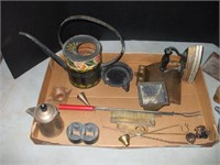 GROUPING OF CAST IRON, AND TIN ITEMS