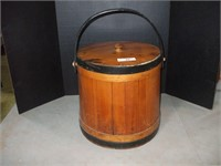 WOOD FIRKIN, GOOD TEXTURE AND COLOR,