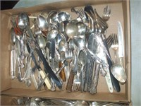 2 BOXES OF SILVERPLATED SILVERWARE