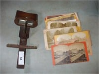STEREOSCOPE VIEWER  AND STEREOSCOPE CARDS