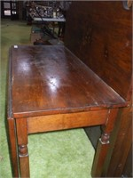 """PINE ENTRANCE TABLE,  42"""" LONG, 18 1/2"""" WIDE,"""