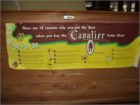 CAVALIER BRAND MAPLE EXTERIOR CEDAR CHEST