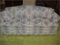 WHITE PATTERN COUCH, 84''