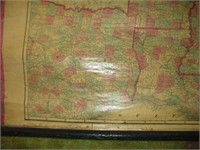 MAP OF UNITED STATES, 1860, W/ MAJOR TEAR,