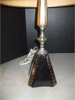 PAIR OF BLACK MID-CENTURY LAMPS
