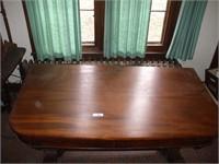 EMPIRE STYLE TABLE, BACK FEET DAMAGED, TILTS