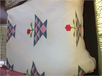 3 QUILTS AND ONE KNOTTED COMFORTER;