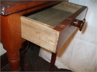 "PINE SINGLE DRAWER STAND: 20"" X 18"" X 29"""