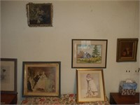 6 PAINTINGS OR PRINTS, SOLD TOGETHER