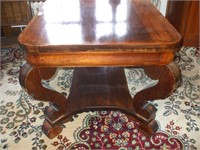 SOLID MAHOGANY 2 DRAWER LIBRARY TABLE:
