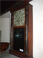 OG STYLE CLOCK, MIRROR FACE, W/ WEIGHTS &