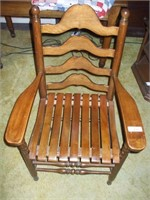 WOODEN PORCH STATIONARY CHAIR