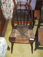 4 VARIOUS STYLES OLDER CHAIRS