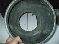 2 CAST METAL PLANTERS,
