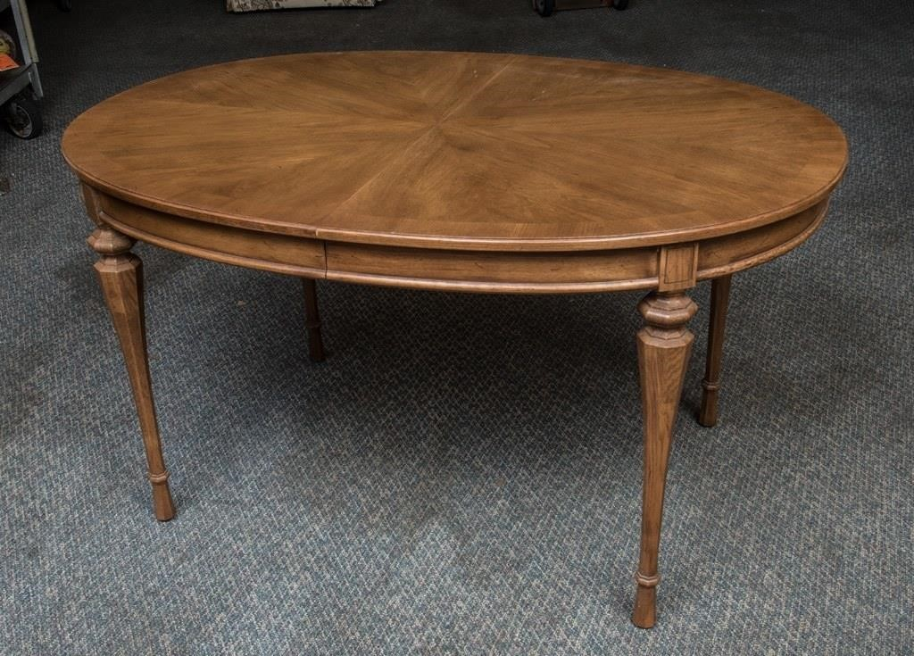 Lot 25 Unique Furniture Makers Oval Dining Room Table