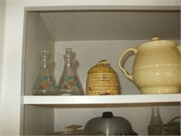 TOP 2 SHELVES OF KITCHENWARE: