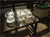 24 PCS OF CLEAR GLASS, PUNCH BOWLS