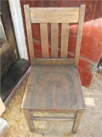 2 OAK MISSION CHAIRS- NO MARKINGS