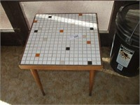 """TILE TOP TABLE 15"""" SQUARE, 16"""" TALL"""