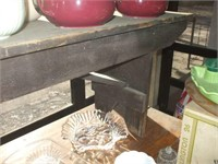 92'' WOODEN BENCH, - BENCH ONLY, NO COOKWARE OR