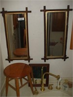 3 MIRRORS AND STOOL