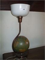 METAL GLOBE DRESSER LAMP W/ PLASTIC SHADE,