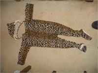 2 GIRLS DRESSES AND  CHILD'S CLOTH LEOPARD