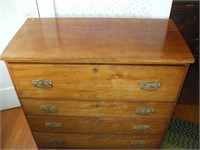 PINE 4 DRAWER BLANKET CHEST / DRESSER: