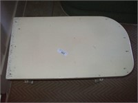 "PAINTED WHITE BENCH: 31''X 17''X 16"" TALL"