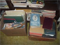 CONTENTS OF BOOKCASE IN UPSTAIRS HALLWAY: