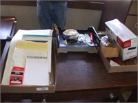 2 BOXES OF OFFICE SUPPLIES