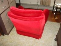 RED PLUSH SWIVEL ROCKER