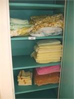 LINENS & TOWELS IN CLOSET, HAMPER, RACK, IN