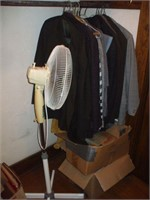 CONTENTS OF CLOSET PHOTOS, CLOTHES,