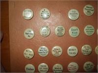 39 CIGARETTE ADVERTISING  PINBACKS FROM 1895-1900