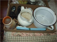 3 COLLECTIBLE ITEMS, POTS, PITCHERS, SILVER PLATE