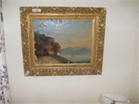 OIL ON CANVAS PAINTING W/ SUBSTANTIAL FLAKING