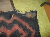 """INDIAN STYLE WOVEN RUG W/ DAMAGE 10' X 7'4"""""""