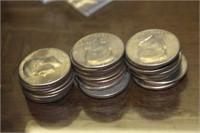Lot of 28 Kennedy Half Dollars