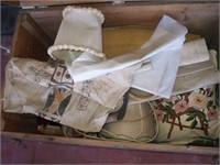 WOODEN FOOT LOCKER (CAPT. DONALD GILE) W/ CONTENTS