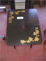 5 FOLDING BLACK TABLES
