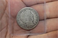 1907 D Barber Half Dollar
