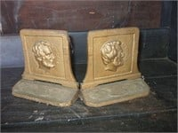 SET OF CAST METAL PRESIDENT LINCOLN BOOKENDS