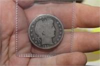 1901 O Barber Half Dollar